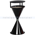 Standascher VAR Kunststoff Kegelascher mit Dach schwarz