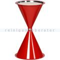 Standascher VAR Kunststoff Kegelascher ohne Dach rot