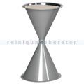 Standascher VAR Kunststoff Kegelascher ohne Dach silber