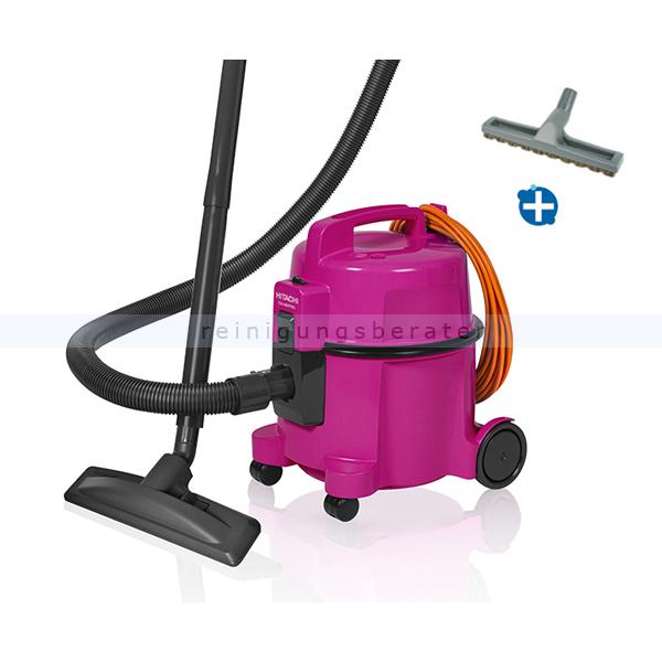 Hitachi CV400 PRO pink, Staubsauger mit Parkettdüse inkl. Zubehör und HEPA-Filter CV-400PRO PI