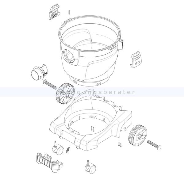 Starmix Set Behälter 32 L inclusive Räder und Verschlüsse Set Behälter inclusive Räder und Verschlüsse 440712