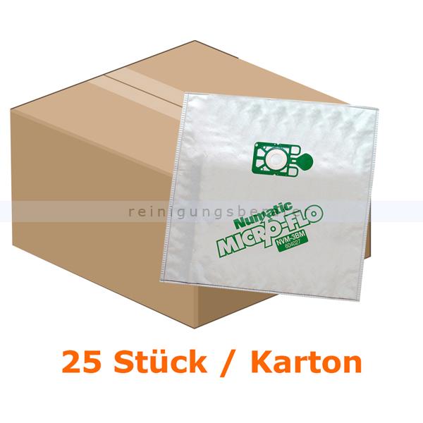 Staubsaugerbeutel Numatic MicroFlo NVM 4BM, 25 Stück 5 VE=25 Stück, Feinstaubfilter 604823V