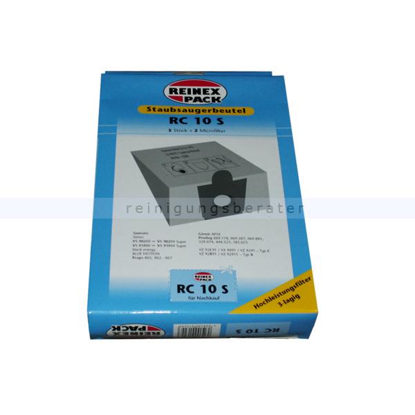 2 Filter 10 Staubsaugerbeutel für Krups 805 Staubbeutel Filtertüten