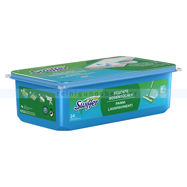 Procter and Gamble Swiffer Feuchttücher Nachfüllung 24 Tücher mit Reine Frische halten 3 x mehr Staub fest als ein herkömmlicher Besen SW3935