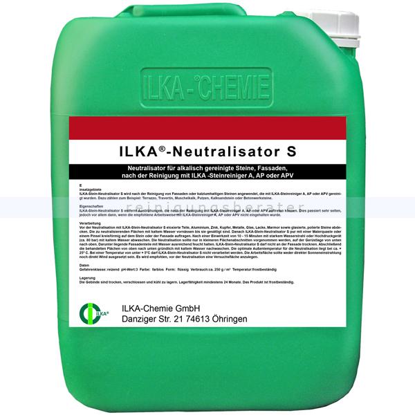 ILKA Chemie ILKA Neutralisator-S 10 Liter Kanister Neutralisator für alkalisch gereinigte Steine 0109010