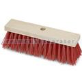 Straßenbesen Nölle Elaston glatt rot, mit Stielloch, 29 cm