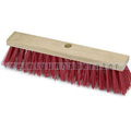 Straßenbesen Nölle Elaston glatt rot, mit Stielloch, 40 cm