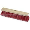 Straßenbesen Nölle Elaston glatt rot, mit Stielloch, 50 cm