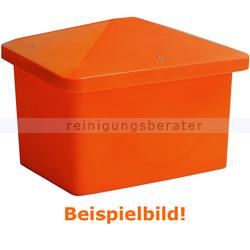Streugutbehälter Salzkontor Frankfurt mit Auslauf orange 250 L