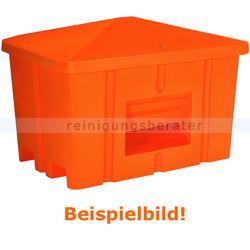 Streugutbehälter Salzkontor Heilbronn mit Auslauf grau 550 L