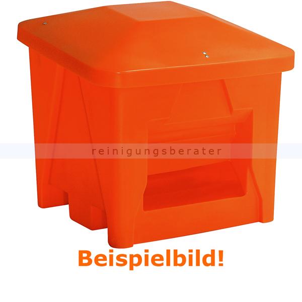 Streugutbehälter Salzkontor Mannheim mit Auslauf orange 400 L