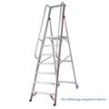 Stufen Stehleiter Hymer 4 Stufen mit langem Handlauf