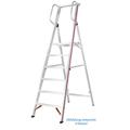 Stufen Stehleiter Hymer 5 Stufen mit Handlauf