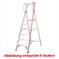 Stufen Stehleiter Hymer 8 Stufen mit Handlauf