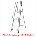 Stufen Stehleiter Hymer 9 Stufen mit langem Handlauf