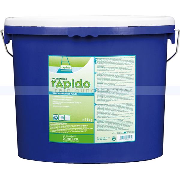 Dr. Schnell RAPIDO 11 kg Teppichreiniger Staubfreies Teppichreinigungspulver 60617