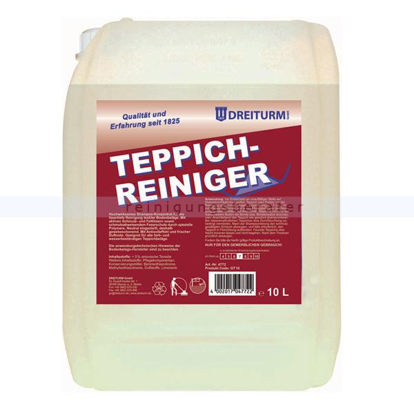 Teppichreiniger Dreiturm 10 L Teppichschampoo für das Shampoonierverfahren 4772
