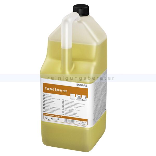 Ecolab Carpet Spray-ex 5 L Teppichreiniger Teppichreiniger zur Entfernung von Verschmutzungen & Flecken 3020980