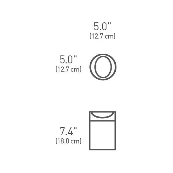 Simplehuman Tischeimer 1,5 L gebürsteter Edelstahl CW1637CB