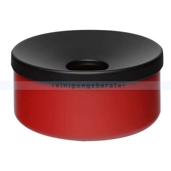 Tischaschenbecher VAR Tisch-Ascher Typ B rot gefertigt aus Stahlteilen, praktischer Tischascher 3210