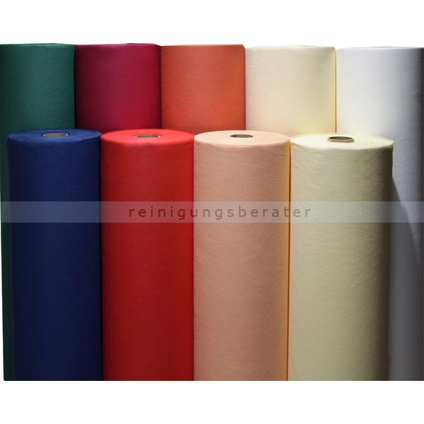 Nordvlies AIRLAID Vlies Tischdeckenrolle 75 m x 120 cm weiß Tischdecke zum selber zuschneiden, 1 Rolle, 60 g/qm 92008