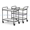 Tischwagen max. 150 kg mit 2 Etagen grau, 1129x460x946 mm