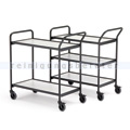 Tischwagen max. 150 kg mit 2 Etagen, grau, 1129x460x946 mm