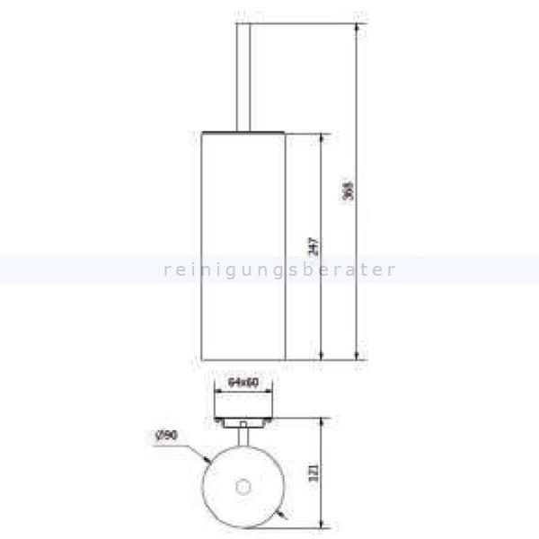 toilettenb rste simex classic wandmontage edelstahl satiniert. Black Bedroom Furniture Sets. Home Design Ideas
