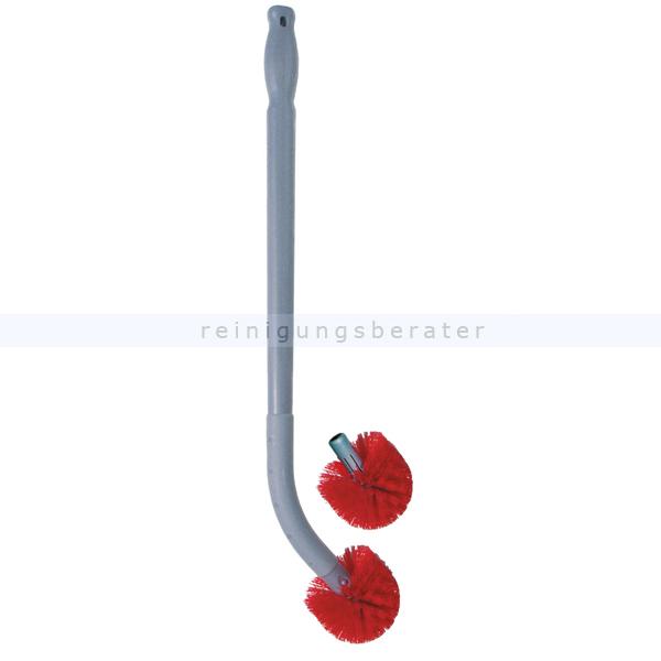 Unger BBCOR Toilettenbürste Ergo 66 cm Stiel und 2 Bürsten ergonomische Toilettenbürste, kein Bücken, Abstand zum WC