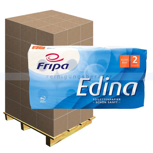Toilettenpapier Fripa Edina hochweiß 2-lagig, Palette
