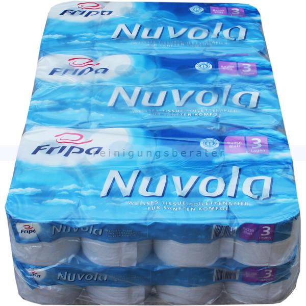 Toilettenpapier Fripa Tissue Nuvola hochweiß 3-lagig 48er