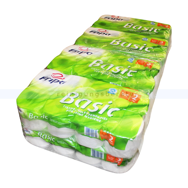 Toilettenpapier Fripa Tissue Recycling Basic weiss 64 Rollen