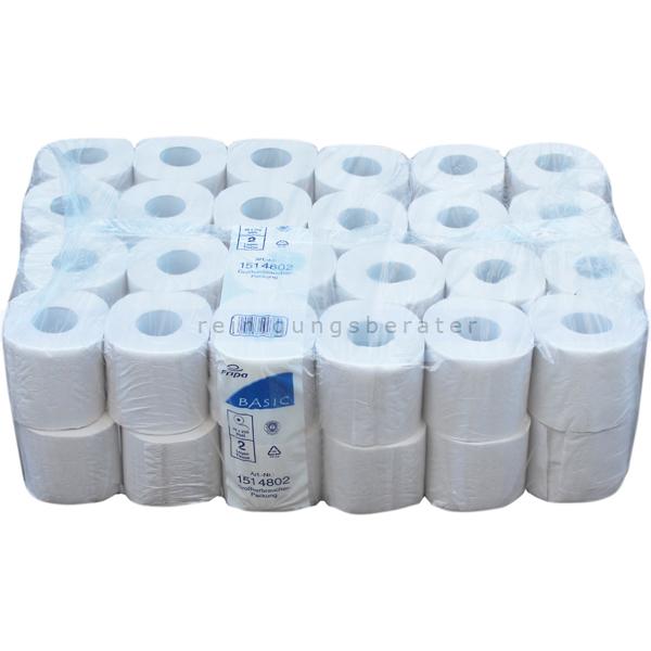 Toilettenpapier Fripa Tissue Recycling naturweiß 2-lagig