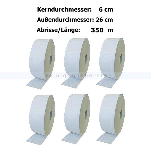 Toilettenpapier Großrolle hochweiß 2-lagig