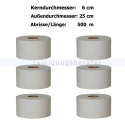 Toilettenpapier Großrolle Krepp natur 1-lagig