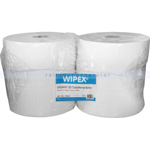Toilettenpapier Großrolle Nordvlies WIPEX GIGANT 30 2-lagig