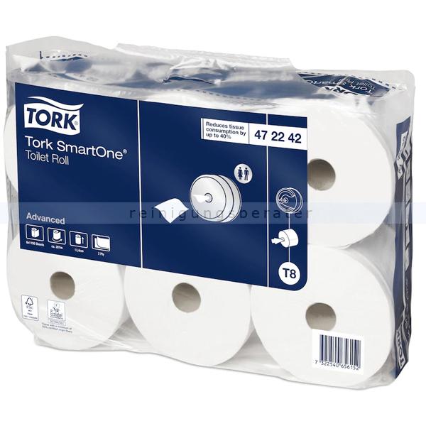 Toilettenpapier Großrolle Tork SmartOne weiß 2-lagig