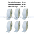 Toilettenpapier Großrolle Wepa Satino weiß 2-lagig