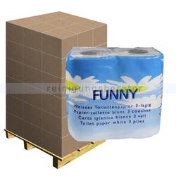 Toilettenpapier hochweiß 3-lagig, Palette
