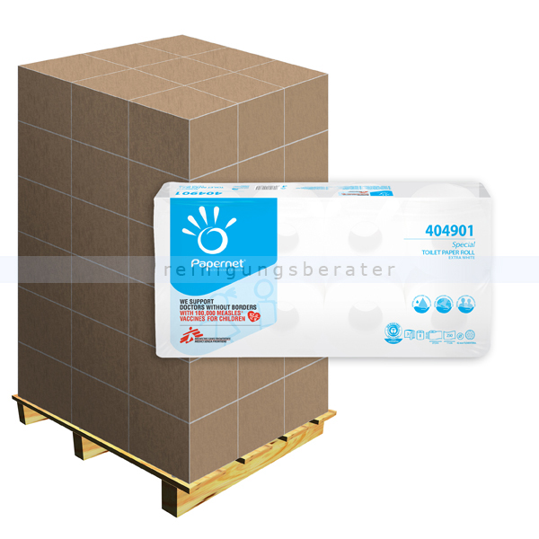 Toilettenpapier Papernet Tissue Recycling naturweiß, Palette