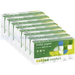 Toilettenpapier Wepa Satino Comfort hochweiß 2-lagig