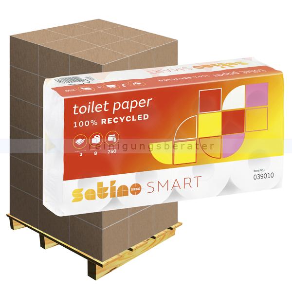 Toilettenpapier Wepa Satino Smart hochweiß 3-lagig, Palette