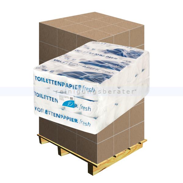 Toilettenpapier Zellstoff hochweiß decorgeprägt, Palette