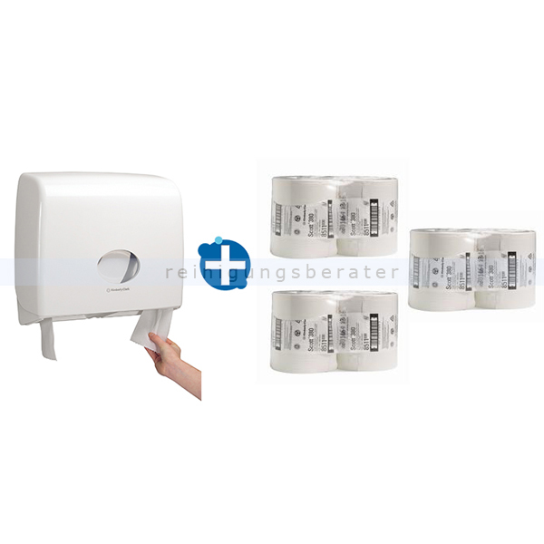 Toilettenpapierspender Aquarius Kimberly Clark Set 12