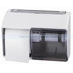 Toilettenpapierspender aus weißem Kunststoff