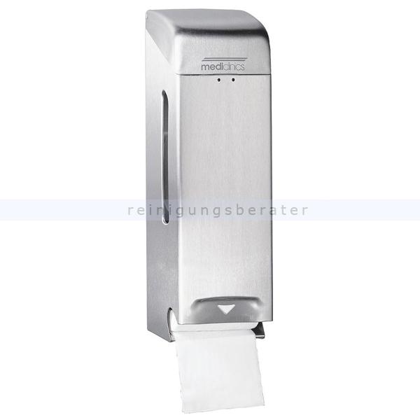 Toilettenpapierspender dreifach Edelstahl geschliffen