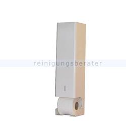 Toilettenpapierspender fünffach Chromstahl weiß