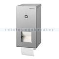 Toilettenpapierspender für 2 Rollen Edelstahl geschliffen