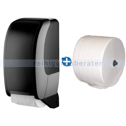 Toilettenpapierspender JM Metzger Cosmos schwarz im Set