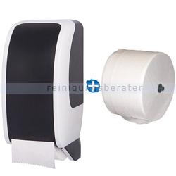 Toilettenpapierspender JM Metzger Cosmos weiß/schwarz im Set